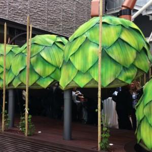 Artichaut sculpture l'exposition universelle de Milan 2015